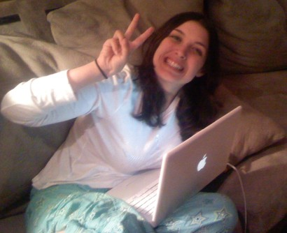 Jenn studying