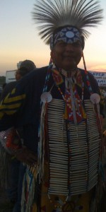 Male pow-wow dancer