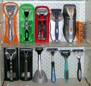 collection of razors from wikimedia