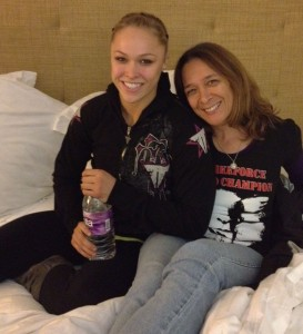 Ronda on fight night