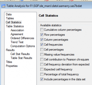 Cell Statistics Window