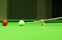 pool cue and cue ball