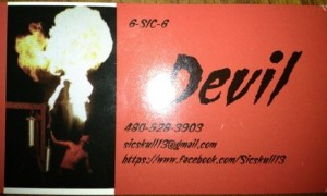 Devil's business card