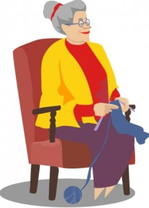 knitting grandma