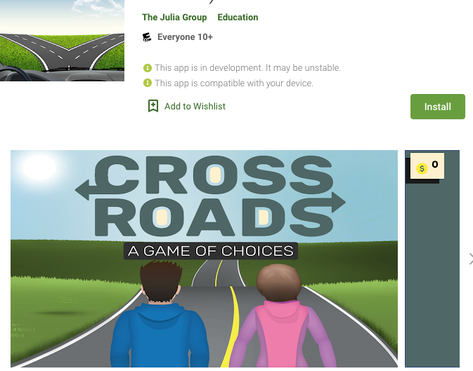 Get Crossroads software for Android from Google Play