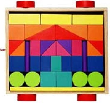 blocks in many colors and shapes